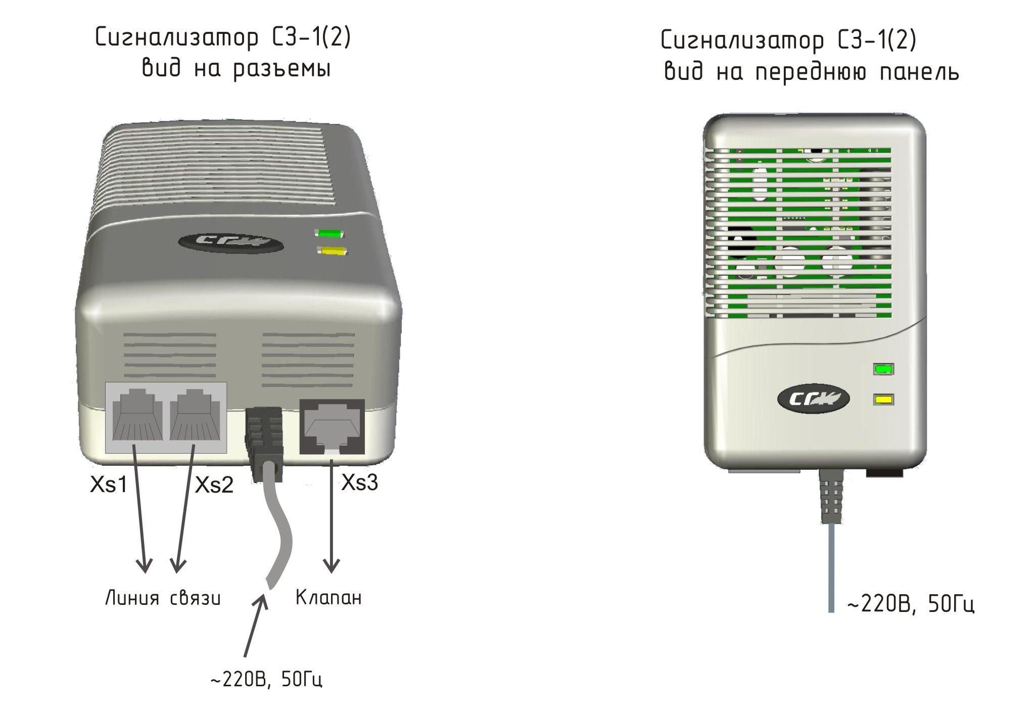 Сигнализаторы загазованности СЗ-1 на угарный газ CO (оксид углерода)